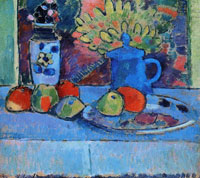 Alexej von Jawlensky - Still-life with flowers and fruit