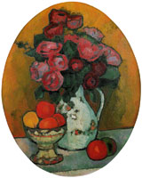 Alexej von Jawlensky - Oval still-life with flowers