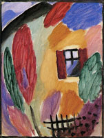 Alexej von Jawlensky - Variation with House and Garden Fence