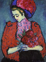 Alexej von Jawlensky Young woman with peonies