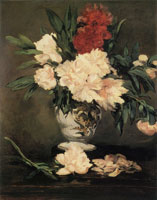 Edouard Manet Vase of Peonies on a Pedestal