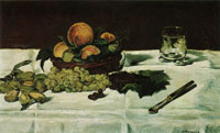 Edouard Manet Still Life: Fruit on a Table