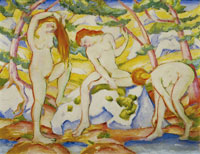 Franz Marc - Bathing Women