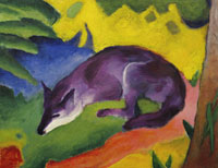 Franz Marc - Blue-black Fox