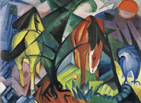 Franz Marc Horses and Eagle