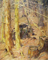 Franz Marc Interior of Forest with Deer