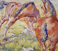 Franz Marc Mare with a Foal