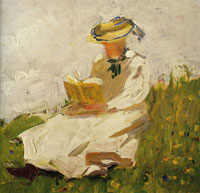 Franz Marc - Woman Reading in a Meadow