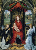 Hans Memling Madonna and Child Enthroned with Two Angels