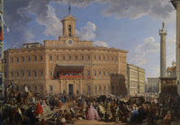 Giovanni Paolo Panini The Lottery Draw in Piazza di Montecitorio
