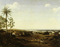 Frans Post Houses of Farmers at the Paraiba River