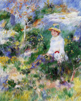 Pierre-Auguste Renoir - Summer, girl between flowers