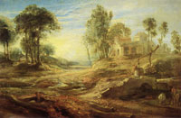 Peter Paul Rubens - Landscape with Watering Place: Effect of Sunrise