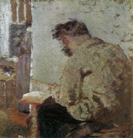 Edouard Vuillard Cipa in Shirtsleeves, Reading