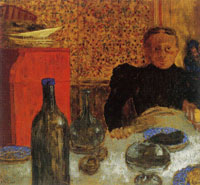 Edouard Vuillard Madame Vuillard at Table
