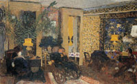 Edouard Vuillard Rue Saint-Florentin, the Drawing-Room with Three Lamps