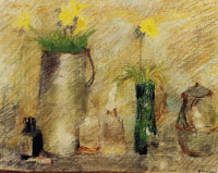 Edouard Vuillard Still Life with Flowers and a Bottle