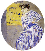 Edouard Vuillard - The Striped Dress