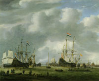 Reinier Zeeman View of Amsterdam Harbour