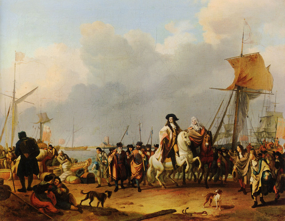 Ludolf Backhuysen - The Arrival of King-Stadholder William III in the Oranjepolder on 31 January 1691