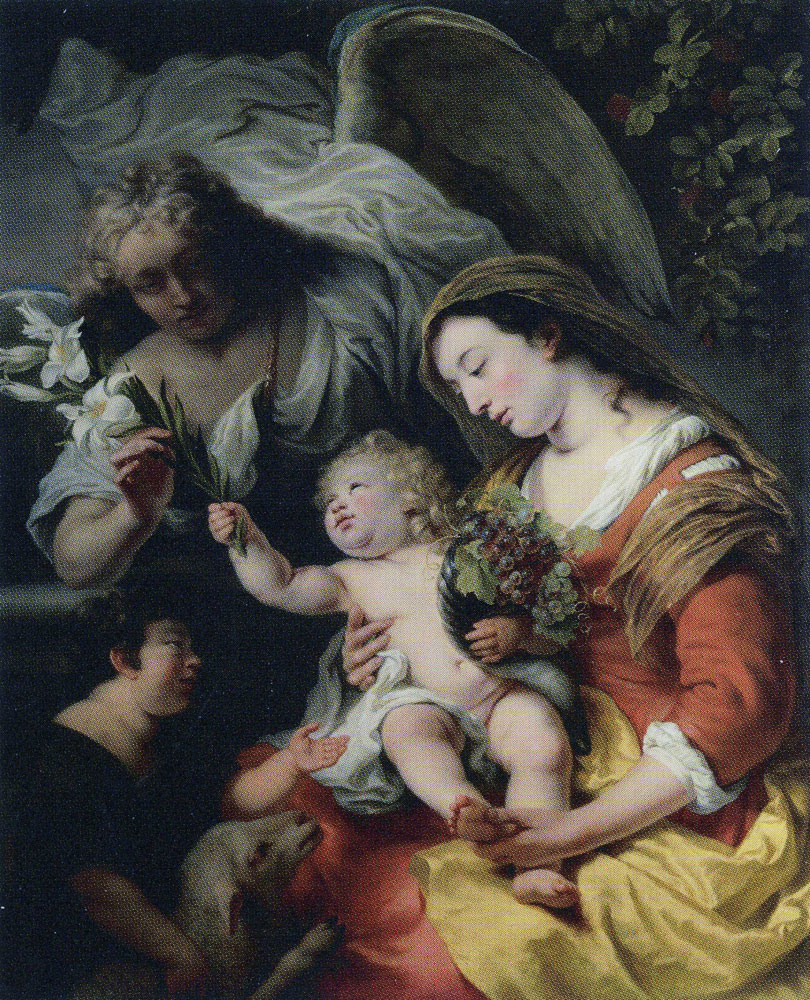 Ferdinand Bol - The Virgin and Child with St John the Baptist and the Archangel Gabriel