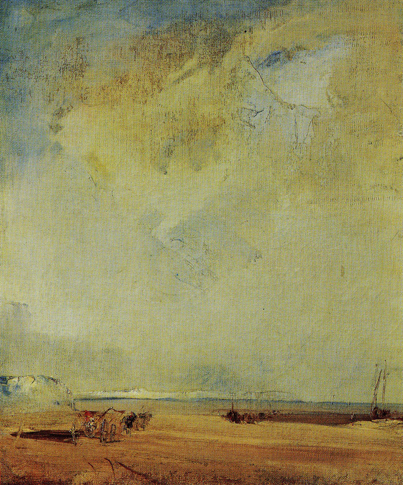 Richard Parkes Bonington - View of the Coast of Normandy