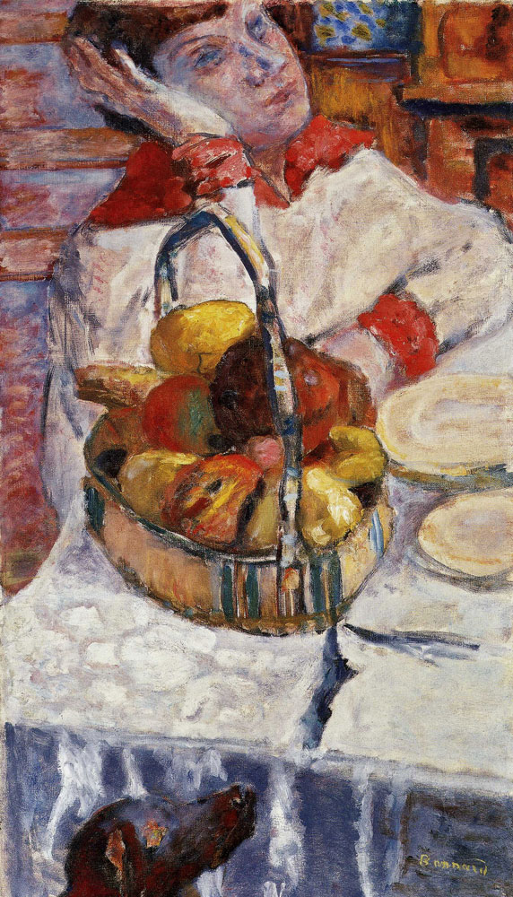 Pierre Bonnard - Woman with Basket of Fruit