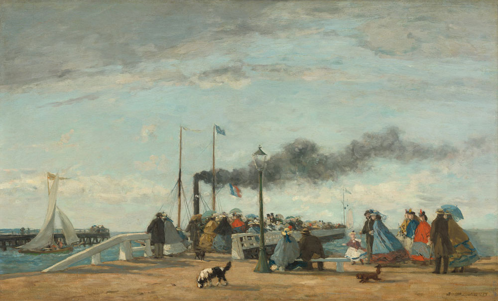 Eugène Boudin - Jetty and Wharf at Trouville