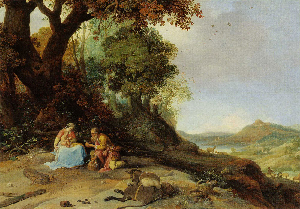 Bartholomeus Breenbergh - Landscape with Rest on the Flight to Egypt