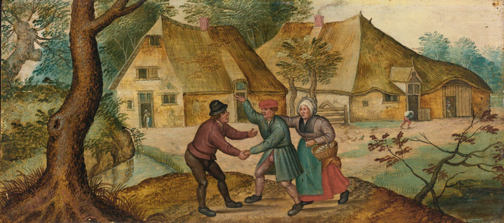 Pieter Brueghel the Younger - Peasants Greeting One Another