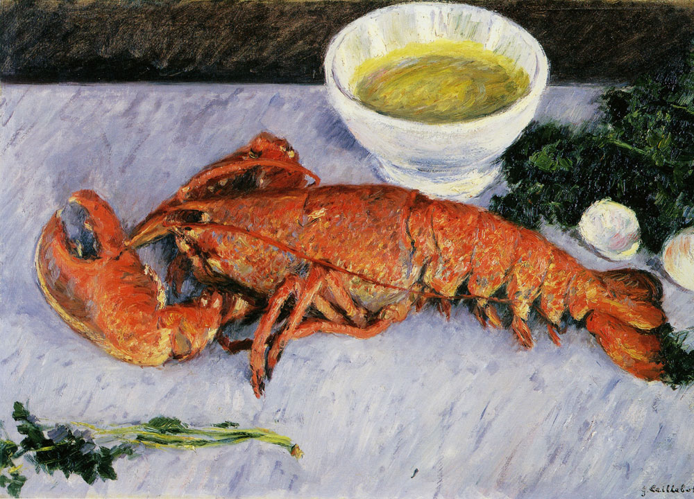 Gustave Caillebotte - Still Life with Lobster