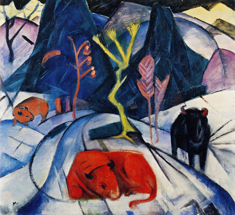 Franz Marc - Bison in Winter (Red Bison)