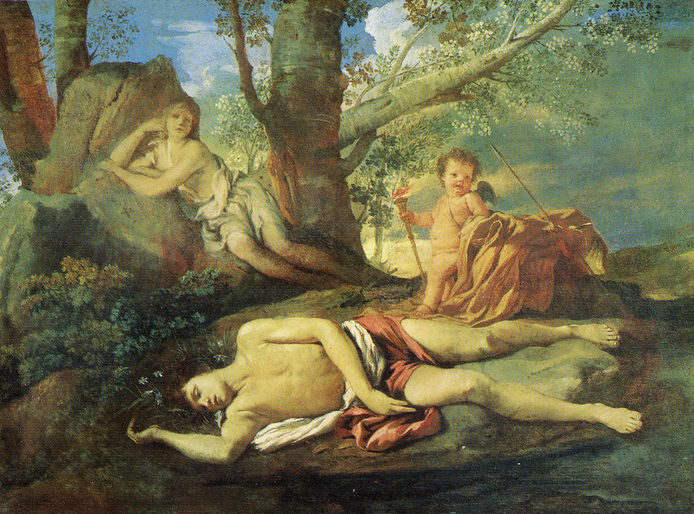 Nicolas Poussin - Echo and Narcissus