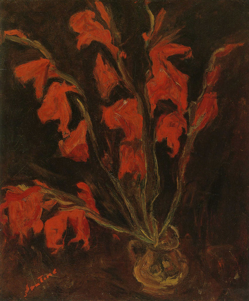Chaim Soutine - Red Gladiolas