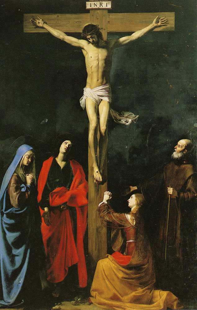 Nicolas Tournier - Christ on the Cross, the Virgin, Mary Magdalene, St. John, and St. Francis of Paola