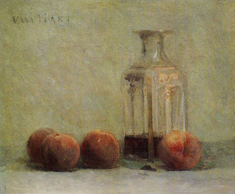Edouard Vuillard - Decanter and Four Peaches