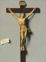 Louis-Léopold Boilly - A trompe l'oeil of an ivory and wood crucifix
