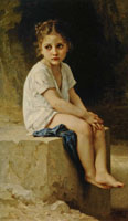 William-Adolphe Bouguereau At the Cliff Foot