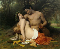 William-Adolphe Bouguereau - Faun and Bacchante