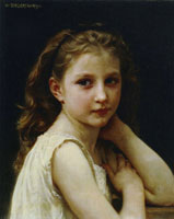 William-Adolphe Bouguereau - Head of a Little Girl
