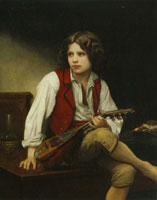 William-Adolphe Bouguereau - The Italian with a Mandolin
