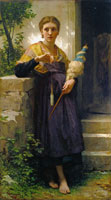 William-Adolphe Bouguereau - The Spinner