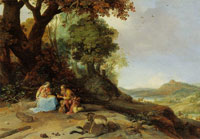Bartholomeus Breenbergh Landscape with Rest on the Flight to Egypt