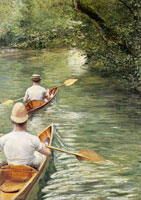 Gustave Caillebotte Périssoires on the Yerres