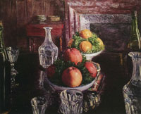 Gustave Caillebotte Still Life with Fruit and Glassware