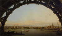 Canaletto - The City Seen through an Arch of Westminster Bridge
