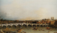 Canaletto Westminster Bridge with the Lord Mayor's Procession