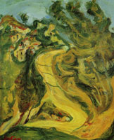Chaim Soutine Landscape with Ascending Road