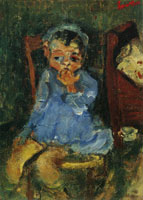 Chaim Soutine - Seated Child in Blue