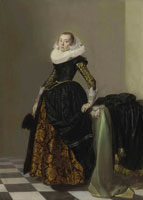 Attributed to Pieter Codde Portrait of a richly dressed young lady